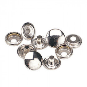 Boutons à pression 12,7mm en Acier Nickelé x 100 - Outils cuir
