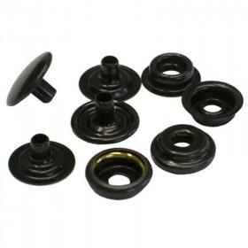 Boutons à pression 12,7mm en Acier Noir Cuivré x 100 - Outils cuir