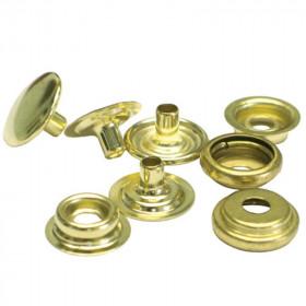 Boutons à pression 12,7mm en Acier Doré x 100 - Outils cuir