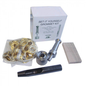 Kit de pose œillet Laiton Osborne 0,71 cm N°K235-1 - Outils cuir