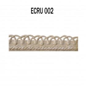 Crête - les unis - 12 mm - Ecru 002 à 7,50 €
