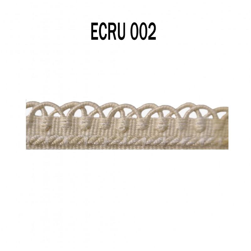 Crête - les unis - 12 mm - Ecru 002 - Passementerie