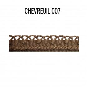 Crête - les unis - 12 mm - Chevreuil 007 - Passementerie