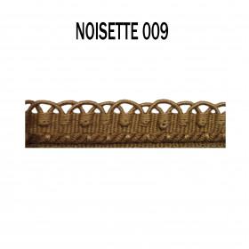 Crête - les unis - 12 mm - Noisette 009 - Passementerie