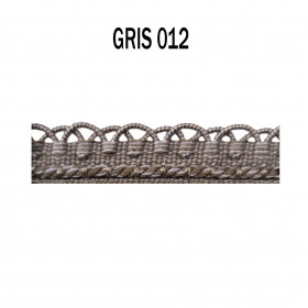 Crête - les unis - 12 mm - Gris 012 - Passementerie