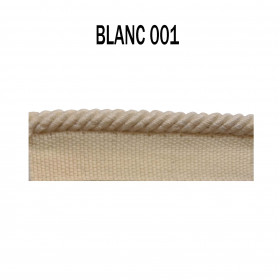 Câblé sur pied 4.5 mm les unis - 001 Blanc - Passementerie
