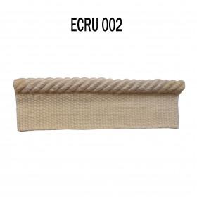 Câblé sur pied 4.5 mm les unis - 002 Ecru - Passementerie