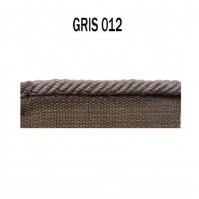 Câblé sur pied 4.5 mm les unis - 012 Gris - Passementerie
