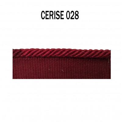 Câblé sur pied 4.5 mm les unis -028 Cerise