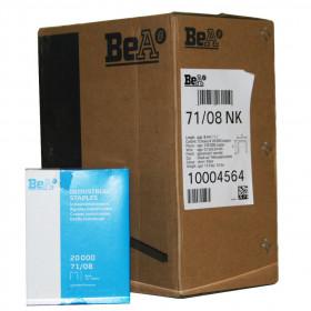 Carton de 12 Boites Agrafes type 71 BEA 8mm - Par 20 000 - Fournitures tapissier