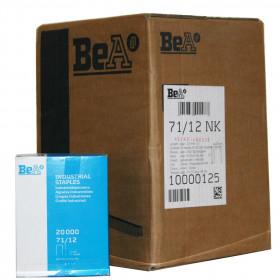 Carton de 12 boites Agrafes type 71 BEA 12mm - 20 000 par boite - Fournitures tapissier