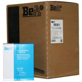 Carton de 12 Boites Agrafes type 71 BEA 10mm - 20 000 par boite - Fournitures tapissier