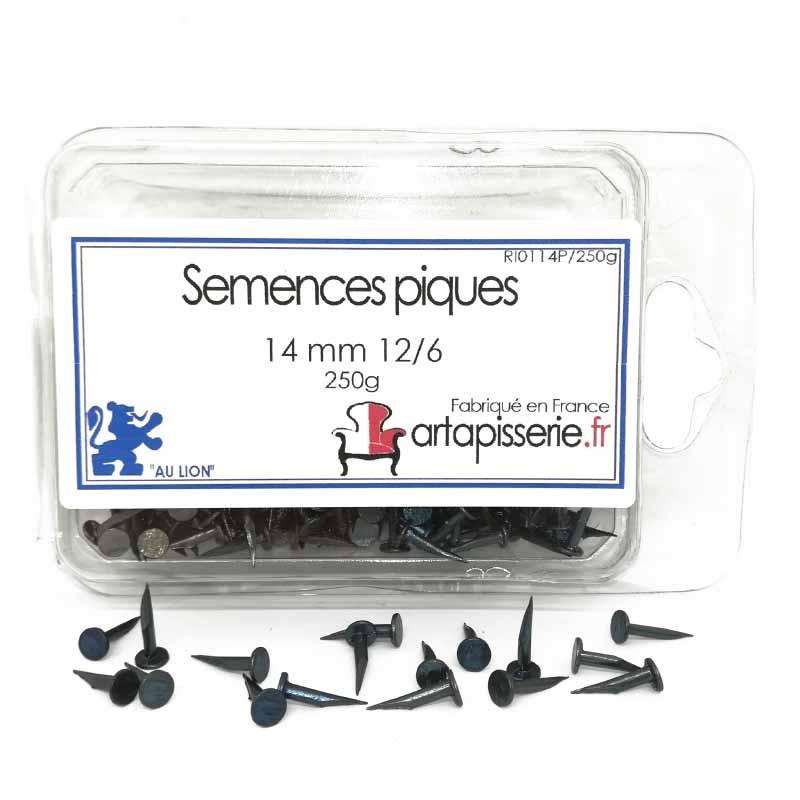 Semences Pique de 14 mm 12/6 les 250 g - Fournitures tapissier