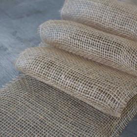 Toile de jute bande de 22 cm, le mètre - 150gr/m² - Fournitures tapissier
