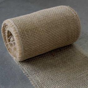 Toile de jute bande de 22 cm - 20 mètres - 150gr/m² - Fournitures tapissier