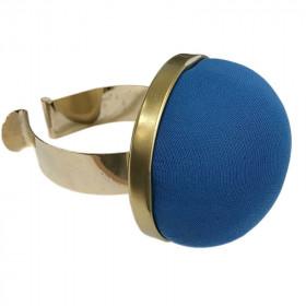 Bracelet porte épingles bleu - Mercerie