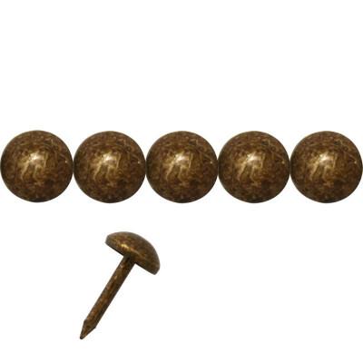 1000 Clous tapissier Vieilli Bronze Lentille Fer 6,5 mm