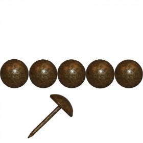 1000 Clous tapissiers FAM Bronze doré 10,5 mm - Pointe 19 mm - Clous tapissier