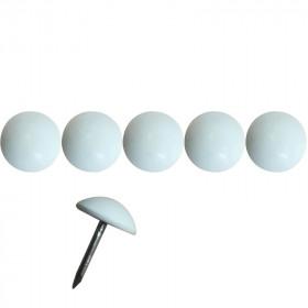 1000 Clous tapissiers Prestige Blanc Pur Satiné 11 mm - Clous tapissier
