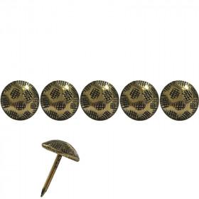 1000 Clous tapissiers martelé Or Vieilli strié 11 mm - Clous tapissier