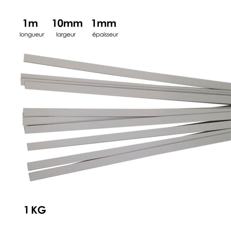 Carton à anglaiser 10x1 mm, 1 kg de bandes d'1m - Fournitures tapissier