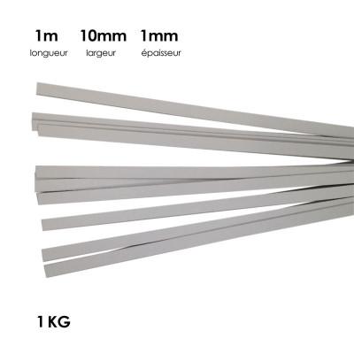 Carton à anglaiser 10x1 mm, 1 kg de bandes d'1m