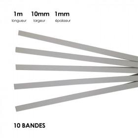 Carton à anglaiser 10x1mm, 10 bandes d'1m - Fournitures tapissier