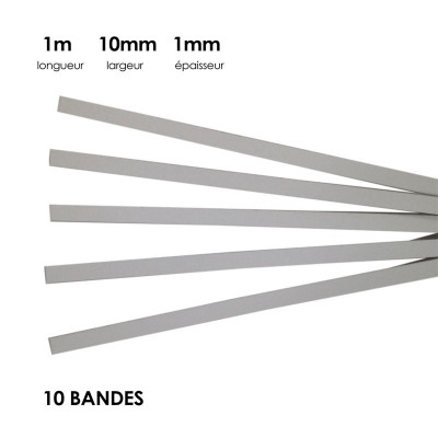 Carton à anglaiser 10x1mm, 10 bandes d'1m