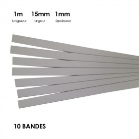 Carton à anglaiser 15x1mm, 10 bandes d'1 m - Fournitures tapissier