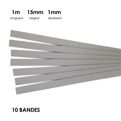 Carton à anglaiser 15x1mm, 10 bandes d'1 m