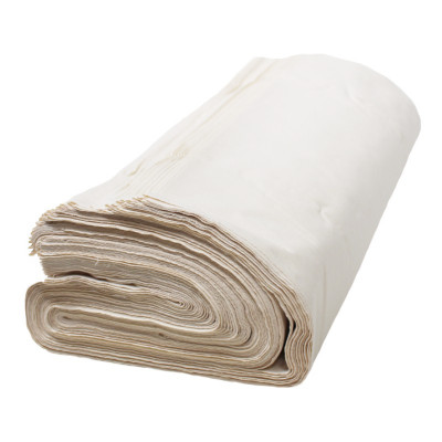 Toile blanche 160 g/m² dossé plié, les 50 mètres