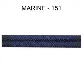 Large Double passepoil 10 mm 43 IDF - Marine 151 - Passementerie