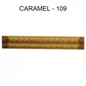 Large Double passepoil 10 mm 43 IDF - Caramel 109 - Passementerie