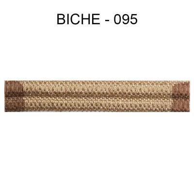 Large Double passepoil 10 mm 43 IDF - Biche 095