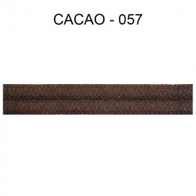Large Double passepoil 10 mm 43 IDF - Cacao 057 - Passementerie