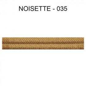Large Double passepoil 10 mm 43 IDF - noisette 035 - Passementerie