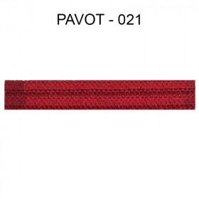 Large Double passepoil 10 mm 43 IDF - pavot 021 - Passementerie