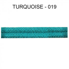 Large Double passepoil 10 mm 43 IDF - turquoise 019