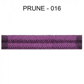 Large Double passepoil 10 mm 43 IDF - prune 016