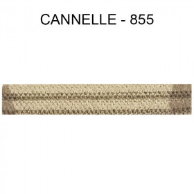 Double passepoil étroit 8 mm 43 IDF - Cannelle 855 - Passementerie