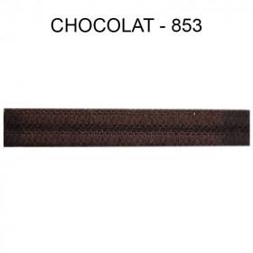 Double passepoil étroit 8 mm 43 IDF - Chocolat 853 - Passementerie