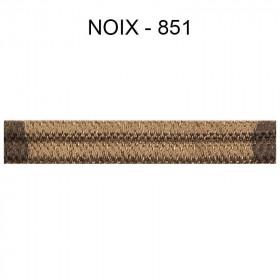 Double passepoil étroit 8 mm 43 IDF - Noix 851 - Passementerie