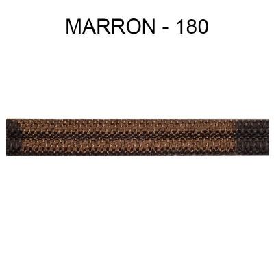 Double passepoil étroit 8 mm 43 IDF - Marron 180