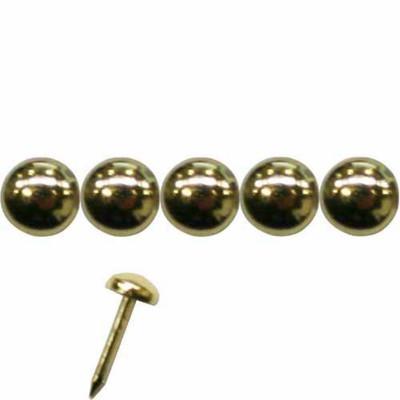 1000 Clous tapissier Laitonné Perle Fer 4,5 mm