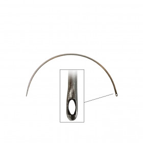 Carrelet courbe 125 mm - Chas latéral - Outils tapissier