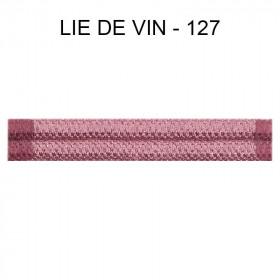Double passepoil étroit 8 mm 43 IDF - Lie de Vin 127 - Passementerie
