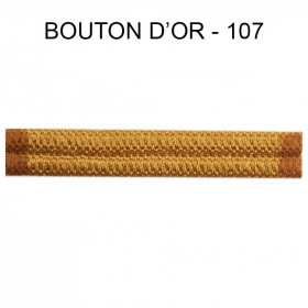 Double passepoil étroit 8 mm 43 IDF - Bouton d'Or 107 - Passementerie