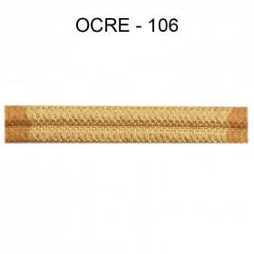 Double passepoil étroit 8 mm 43 IDF - Ocre 106 - Passementerie