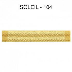 Double passepoil étroit 8 mm 43 IDF - Soleil 104 - Passementerie