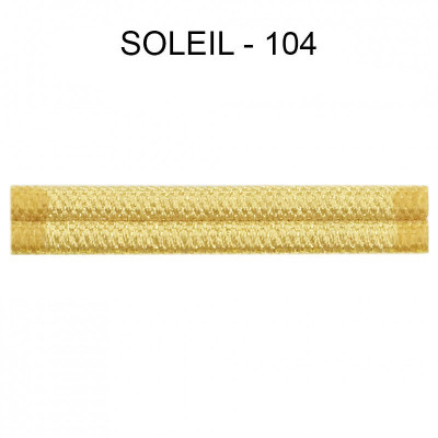 Double passepoil étroit 8 mm 43 IDF - Soleil 104